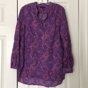 Gap purple paisley tunic
